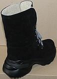 Зимние замшевые женские ботинки от производителя модель ДР1043, фото 6