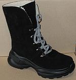 Зимние замшевые женские ботинки от производителя модель ДР1043, фото 5