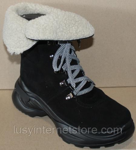 Зимние замшевые женские ботинки от производителя модель ДР1043