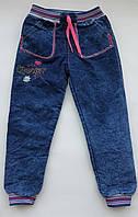 Детские зимние джинсы на девочку 5-8 лет под резинку на махре, фото 1