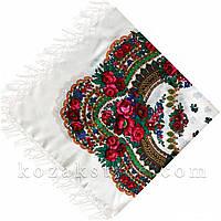 Українська хустка біла (120х120), фото 1