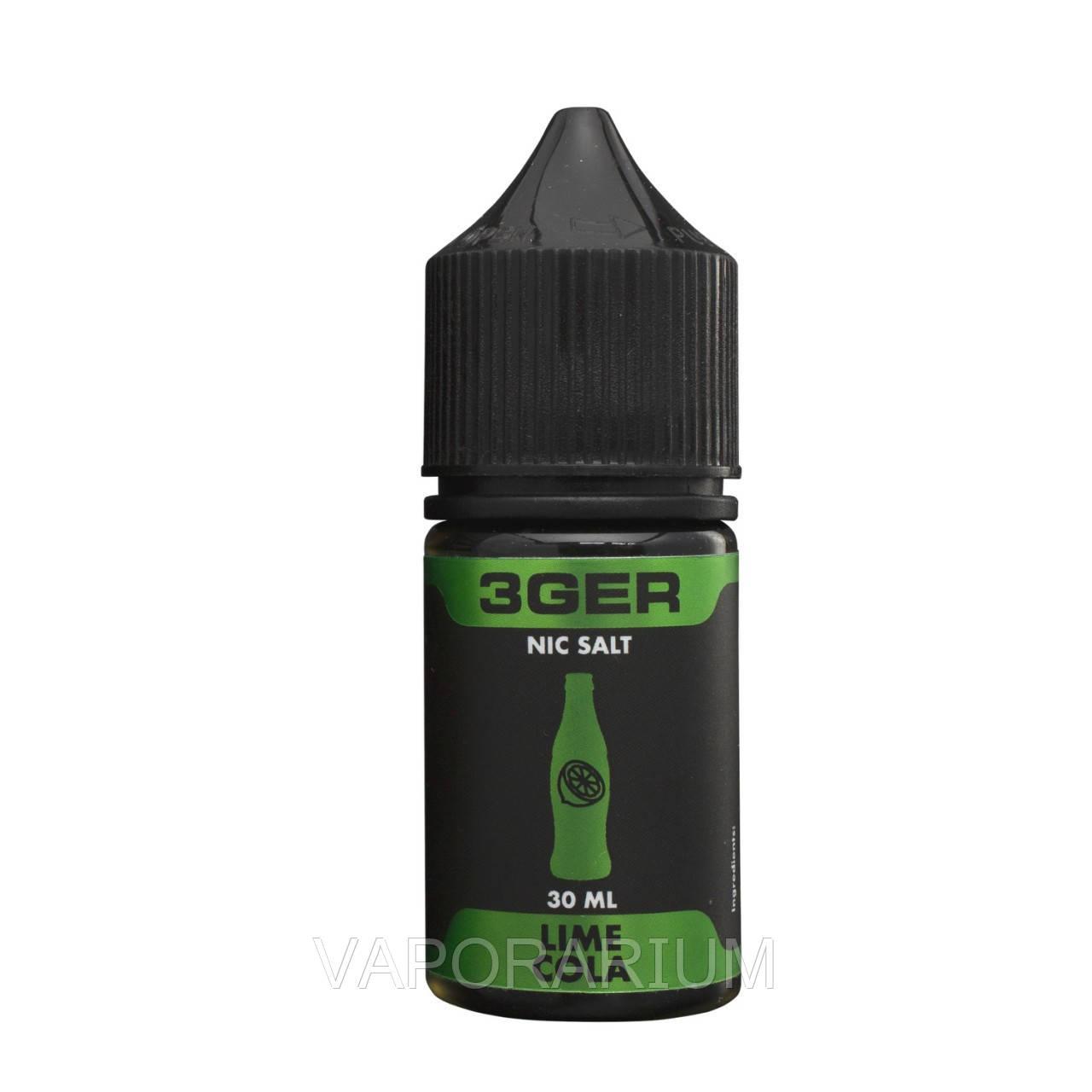 Жидкость для электронных сигарет 3Ger Salt Lime Cola 25 мг 30 мл
