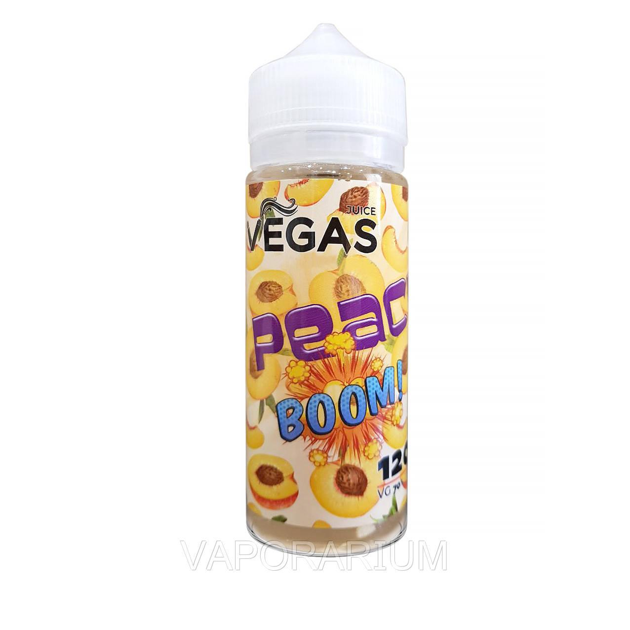 Жидкость для электронных сигарет Vegas Peach Boom 0 мг 120 мл