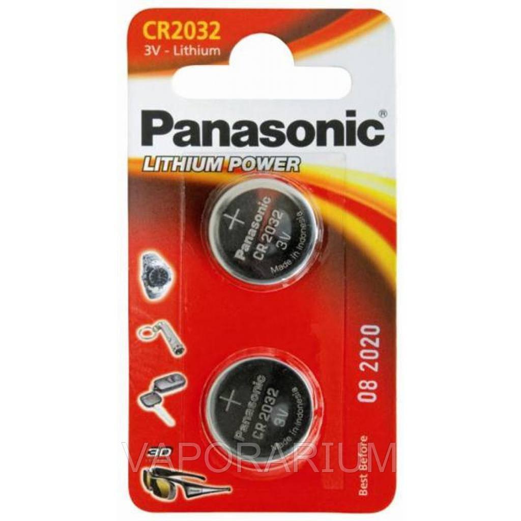 Литиевая батарейка Panasonic Lithium Power CR-2032EL/2B блистер 2 шт.