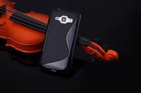 Силиконовый чехол Duotone для Samsung Galaxy J1 Ace Duos J110 чёрный