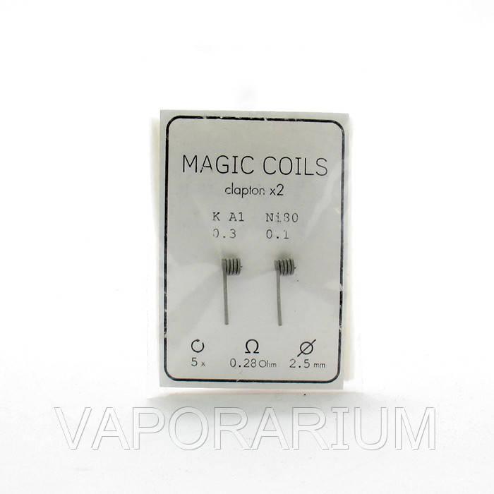 Комплект спиралей Magic Coils Fused Clapton №11 2 шт 0.28 Ом
