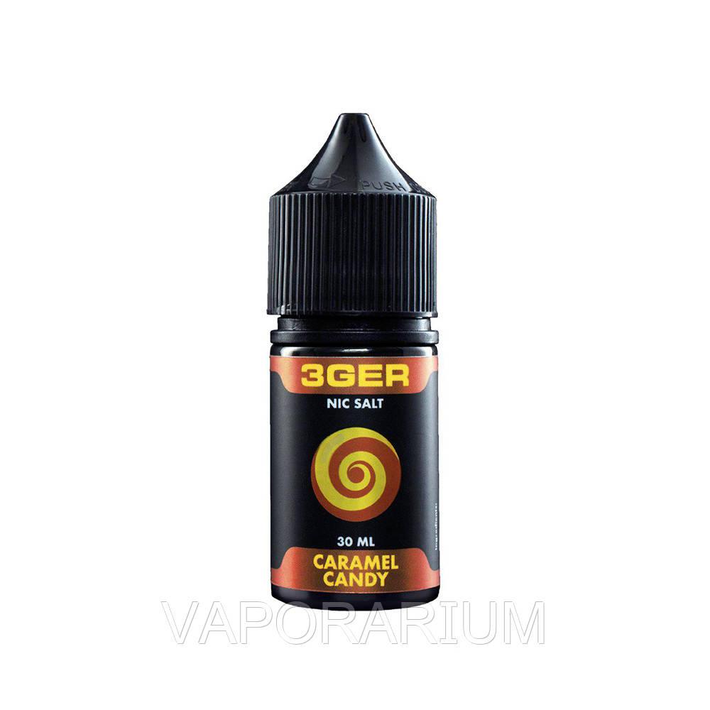 Жидкость для электронных сигарет 3Ger Salt Caramel Candy 50 мг 30 мл