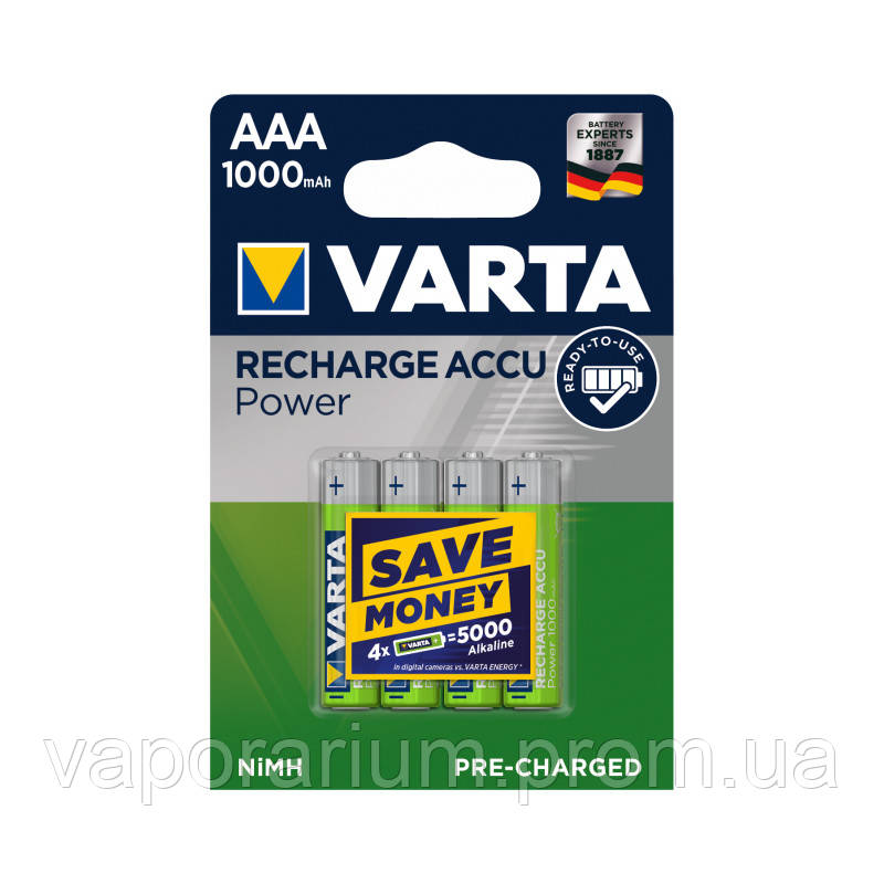 Аккумулятор Varta Pro R2U 5703 1000 мАч блистер 4 шт