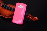 Силиконовый чехол Duotone для Samsung Galaxy J1 Ace Duos J110 розовый