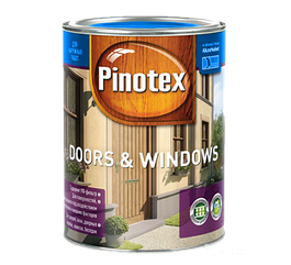 Pinotex Doors & Windows 1л, красное дерево