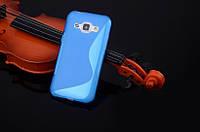 Силіконовий чехол Duotone для Samsung Galaxy J1 Ace Duos моделі j110 синій