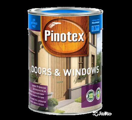 Pinotex Doors & Windows 1л, тиковое дерево