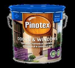 Pinotex Doors & Windows 3л, красное дерево
