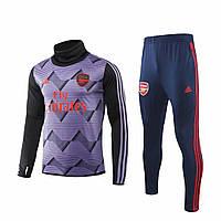 Тренировочный костюм 19/20 Арсенал с горлом фиолетово-черный, фото 1
