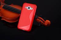 Силиконовый чехол Duotone для Samsung Galaxy J1 Ace Duos J110 красный