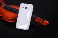 Силіконовий чехол Duotone для Samsung Galaxy J1 Ace Duos моделі j110 прозорий