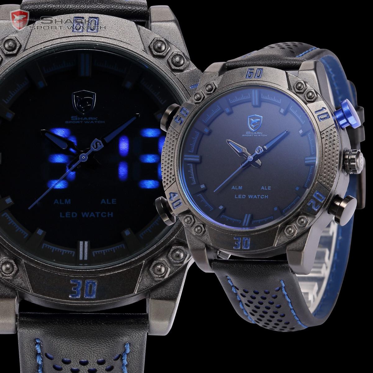 98b8ac7a4514 Мужские часы SHARK SH265 Digital Blue Sport Watch - интернет- магазин