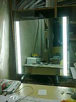 Макияжное зеркало со скрытой подсветкой для ванной комнаты
