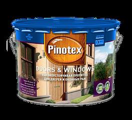 Pinotex Doors & Windows 10л, красное дерево