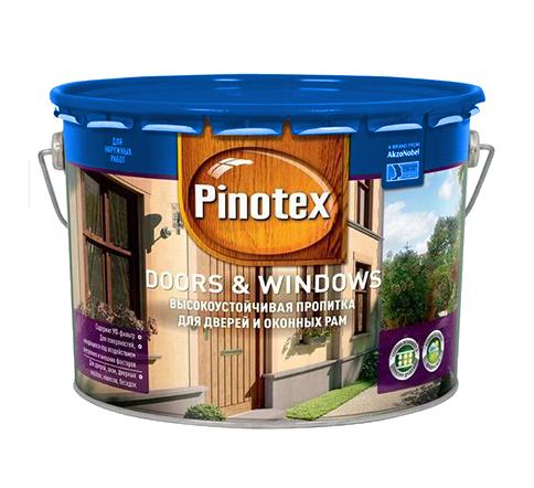 Pinotex Doors & Windows 10л, тиковое дерево