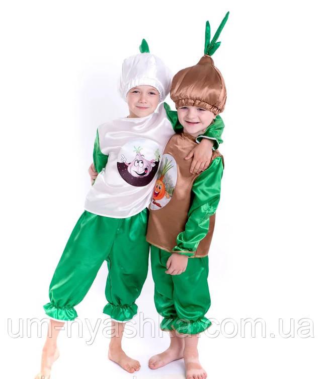 карнавальный костюм Лука, костюм чеснока