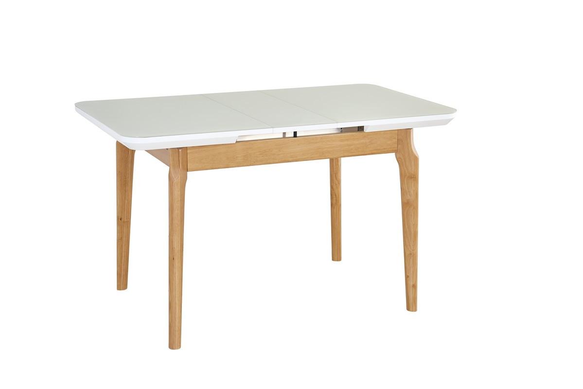 Стол ТМ-72 (Белый мат) 1050(+250)*750