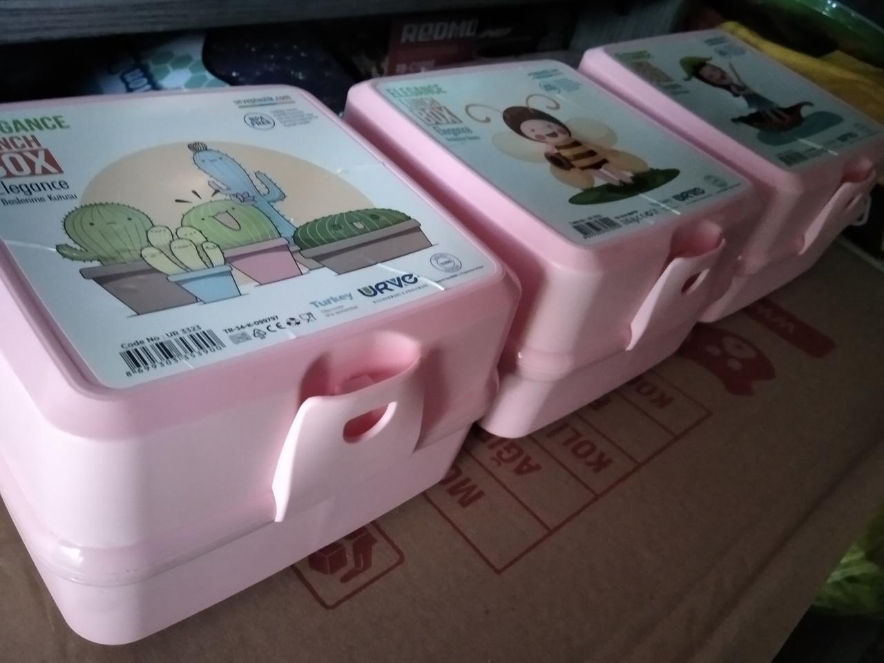 Ланчбокс двойной Турция  ланч бокс контейнер, ланч бокс с отделами розовый