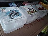 Ланчбокс двойной Турция  ланч бокс контейнер, ланч бокс с отделами белый, прозрачный, фото 1