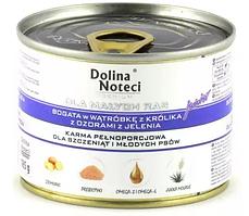 Dolina Noteci Premium 185гр для щенков мелких пород с печенью кролика и оленьего языка
