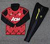 Тренировочный костюм 19/20 Манчестер Юнайтед с горломкрасно-черный