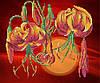 """Рисунок на ткани для вышивания бисером """"Тигровые лилии"""""""