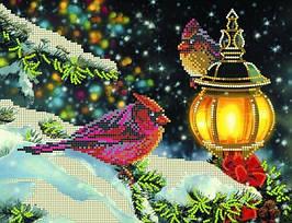 """Рисунок на ткани для вышивания бисером """"Рождественский вечер"""""""