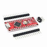 Контролер Arduino Nano ATmega168P CH340 microUSB, фото 2
