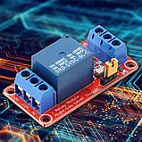 Arduino Модуль, одноканальне реле 5В з опторазвязкой, фото 3