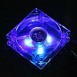 Кулер для корпуса с подсветкой, вентилятор 80 мм, фото 3