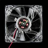 Кулер для корпуса с подсветкой, вентилятор 80 мм, фото 5