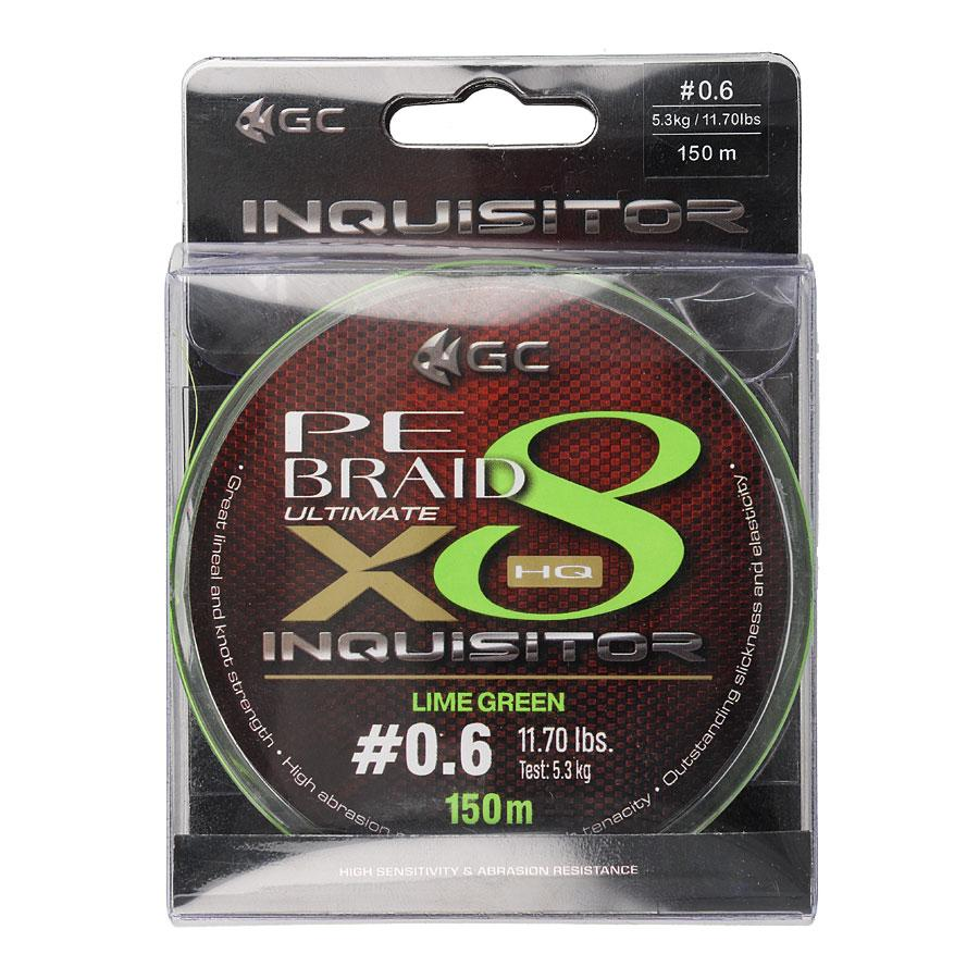 Шнур GC Inquisitor X8 LG 150м #0.8 (флуоресцентно-зеленый)