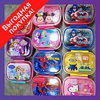 """Детский пищевой контейнер для ланча с ложечкой """"Детский"""" EL 246-44 / Для ребенка / Судок для еды"""
