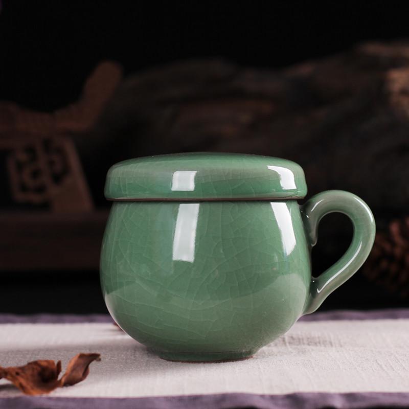 Чашка заварник з керамічним фільтром з лунцюаньского фарфору