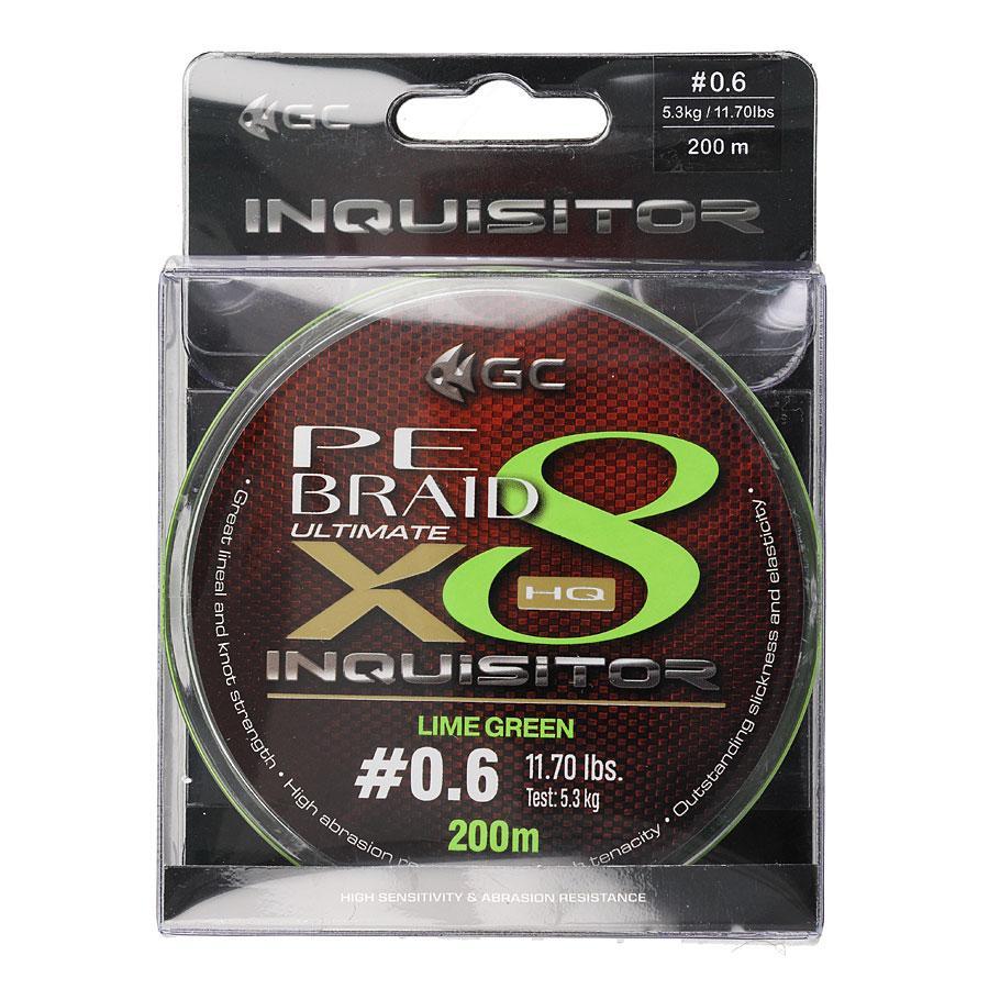 Шнур GC Inquisitor X8 LG 200м #0.6 (флуоресцентно-зеленый)