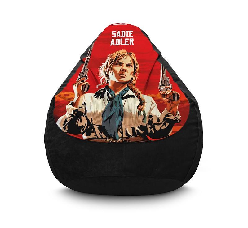 """Кресло мешок """"RDR 2. Sadie Adler"""" Флок"""