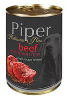 Dolina Noteci Piper Platinum 400г консервы для собак с говядиной и коричневым рисом