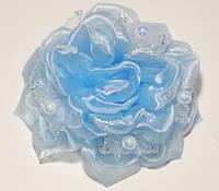 Бант на резинке, голубой(2 шт)  21_3_76a4
