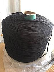 Резинка для масок мягкая, черная круглая от 3000м, 2.8мм,  в наличии, быстрая отправка