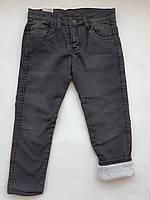 Зимние джинсы на полных мальчиков 3-7 лет зима на махре прямые, фото 1