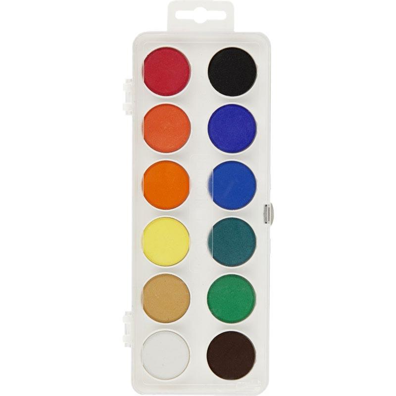 Акварельные краски Koh-i-noor 12 цветов 172510, пластиковая упаковка
