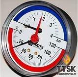 """Термоманометр аксиальный TIM 80 1/2"""", 0-4бар, 120 гр Watts, фото 3"""