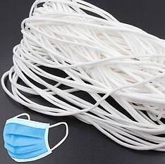 Резинка для медицинских масок от 2000м, белая круглая, 2-2.5мм,  в наличии, еще старая цена