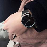 Годинники жіночі наручні Classic steel watch чорні