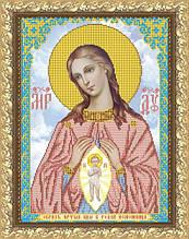"""Рисунок на ткани для вышивания бисером """"Богородица Помощница в родах"""""""